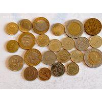 Монеты Турции с рубля.