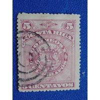 Коста-Рика 1892 г. Герб.