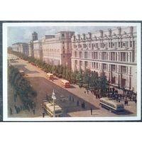 Минск. Проспект им И.В.Сталина 1954 г. Чистая.