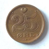 Дания, 25 эре 1990 г.
