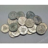 Польша, 5 грошей 1949,1958,1961,1963,1962,1967,1970,1971 год.