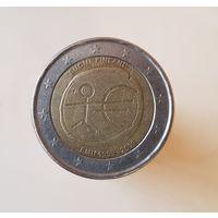 2 евро Финляндия 2009 10  лет Экономическому и Валютному союзу