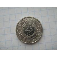 Антильские острова 25 центов 1999г.