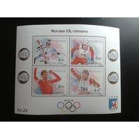 Норвегия 1993 Олимпиада блок
