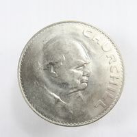 """Великобритания, 5 шиллингов 1965 год, """"Cэр Уинстон Черчилль"""""""