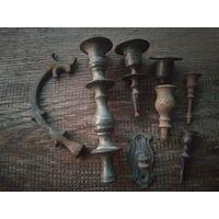 Старинные бронзовые подсвечники