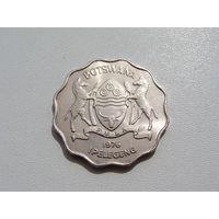 """Ботсвана. 1 пула 1976 год  KM#8  """"Зебра"""""""