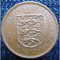 W: Джерси 1 новый пенни 1980 (626)