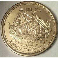 Остров БАССАС-да-ИНДИЯ 100 франков 2012 год (оригинал)