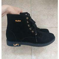 Чёрные ботинки(размер 40, стелька 25,5 см)
