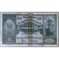 Данциг 1000 марок 1923г.