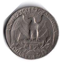 США. 1/4 доллара (1 квотер, 25 центов). 1974