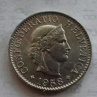 5 раппен, Швейцария 1958 г.