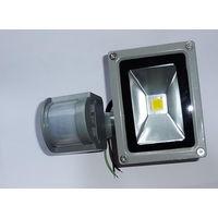 Светодиодный прожектор с датчиком движения 10 Вт.