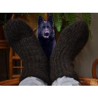 Супер теплые носочки из шерсти немецких овчарок Вес 260 грамм Полностью ручная работа