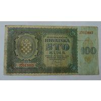 100 кун 1941г. Хорватия.