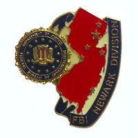Значок Отдела ФБР Ньюарка Министерства юстиции Федерального бюро расследований.