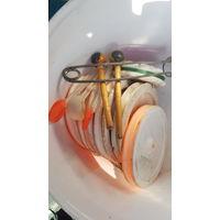 Кружки для рыбалки оснащенные 6 штук + зевник,одним лотом