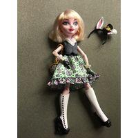 Кукла ever after high Эвер Афтер Хай Бани Бланк Базовая дочка белого кролика из Алисы в стране Чудес Заячьи ушки Продаётся в том виде, все как на фото