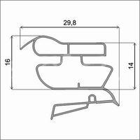 Уплотнительный профиль для дверей холодильника (profile_022)