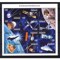 1999 Габон. Космос. 30 лет освоения луны
