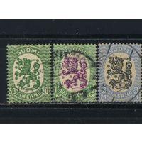 Финляндия 1927-29 Герб Стандарт ВЗ2 #130,132,134