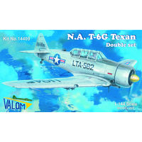 North American T-6G Texan  silver series (contains 2 kit)  1/144 Valom 14409