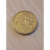 Литва 10 центов 1997г.