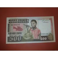 Банкнота 500 ariary Madagascar P-67a 1983-1987