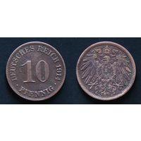 Германия. 10 пфенигов 1914. (А)