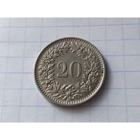 Швейцария 20 раппенов, 1963