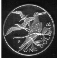 1 Доллар 1973 год Британская Виргиния