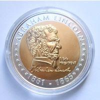 """США, монетовидная медаль """"Абрахам Линкольн"""", - 40мм"""
