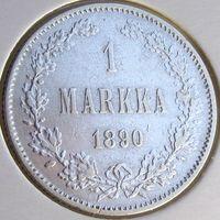 Россия для Финляндии, 1 марка 1890 года (L), серебро 868 пробы, 5,1828 г