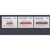[912] Малайзия 1985.Поезда,локомотивы.