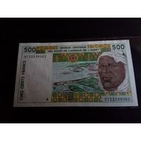 Кот д'Ивуар 500 франков 1997 год