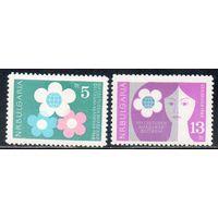 Фестиваль Болгария 1962 год (Михель 1336-37) чистая серия из 2-х марок (М)