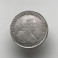 Монета Рубль 1782 г. (СПБ ИЗ) Екатерина ll В блеске