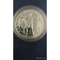 Гибралтар 1 крона Серебро 1992 Proof Номер TL102-01