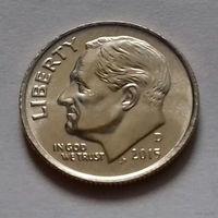 10 центов (дайм) США 2015 D, AU