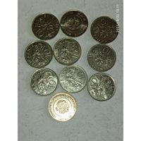 Монеты Сингапур с рубля.