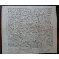 Оригинальная карта ПМВ Вороновского р-на Гродненской обл.1915г