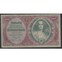 Австрия 5000 крон 1922 AU!