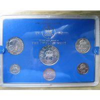 Швеция официальный банковский набор 1982 6 монет - UNC!