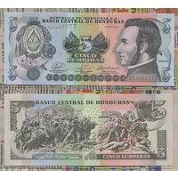Распродажа коллекции. Гондурас. 5 лемпир 2008 года (P-91b - 2004-2010 Issue)