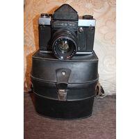 Фотоаппарат КИЕВ 6С с объективом ВЕГА 12 Б, времён СССР, затвор и выдержки рабочие, состояние на фото.