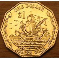 1 доллар 2003г. Корабли Колумба.