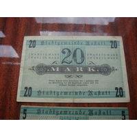 Германия  20 марок 1918 Нотгельд