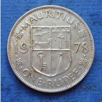 Маврикий Британская колония 1 рупия 1978