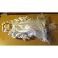 Кукла коллекционная спящий младенец. Фарфор. Номерная. Середина прошлого века. Германия.